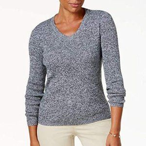 !~Grey COTTON Long Sleeve Ribbed Sweater~!